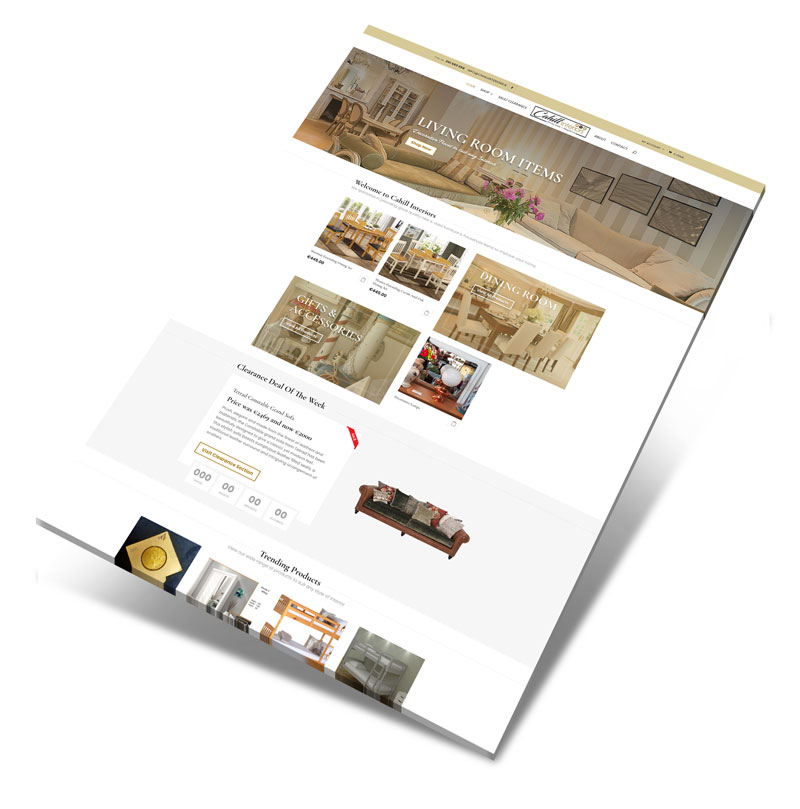homeware website design