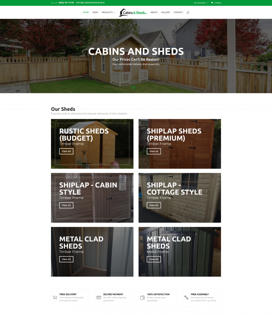 sheds website design