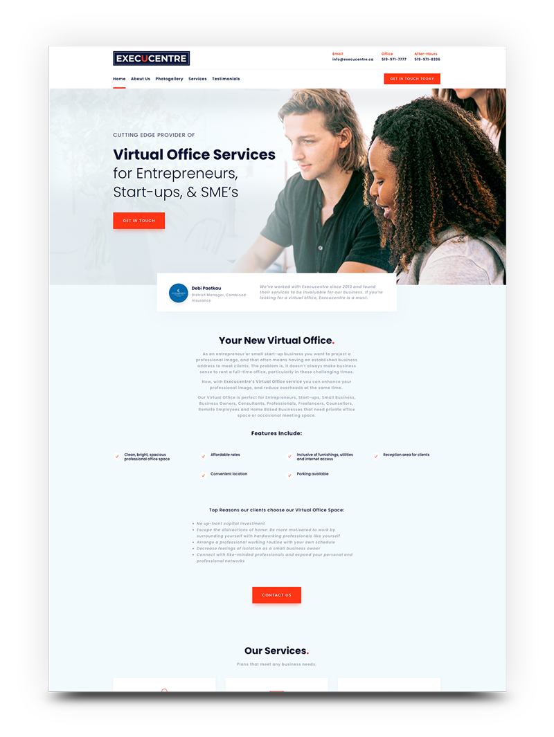 virtual offices website design