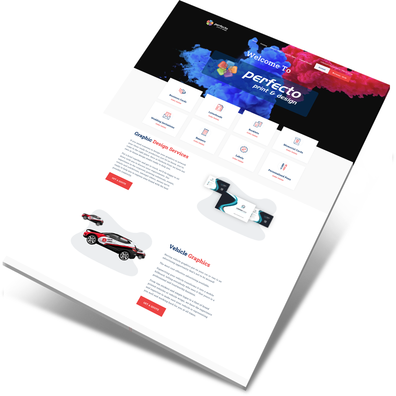 printshop website design