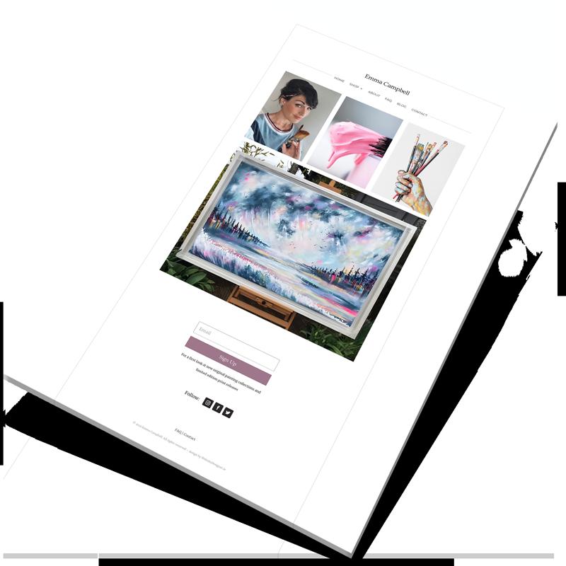 artist website design ireland