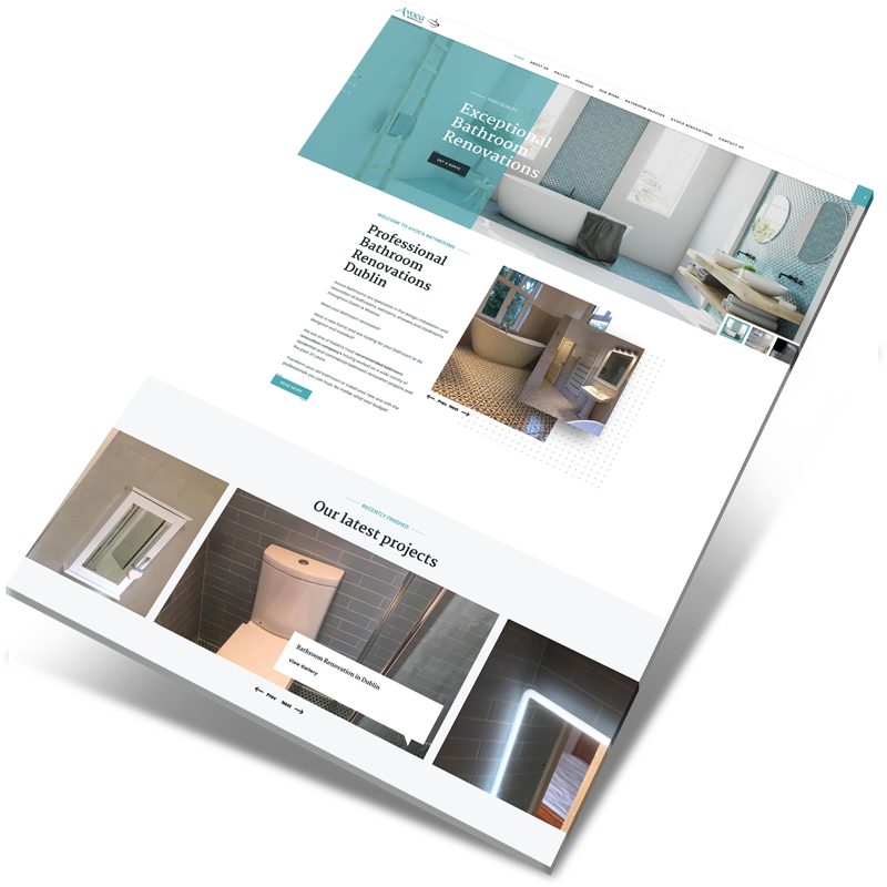 bathroom website design ireland