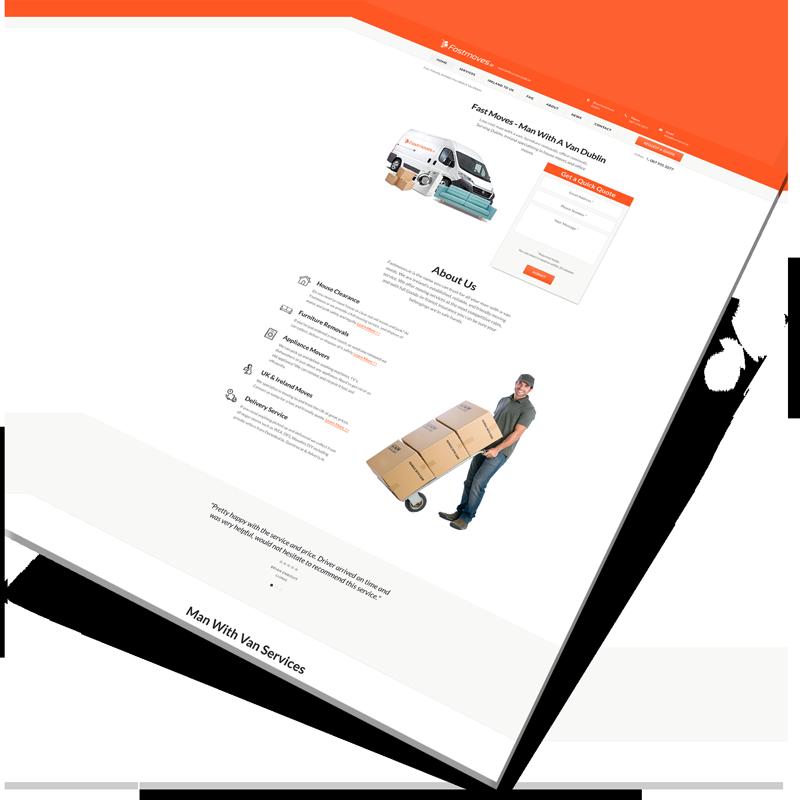 man with van website design