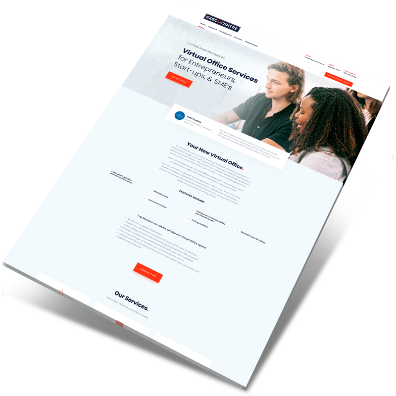 virtual office website design ireland