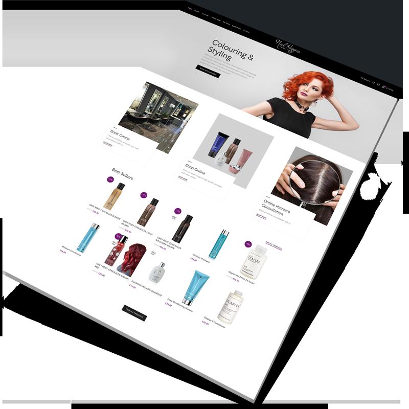 salon websitedesign